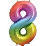 """Foil Balloon - Rainbow # 8 - 34"""" (1 pk)"""