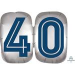 "Foil Balloon-40th Birthday-Happy Birthday Man-25"""