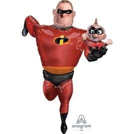 "Foil Balloon- Incredibles 2 Airwalker- 35"" x 67"""