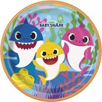 Luncheon Plates - Baby Shark - 8 pk - Paper