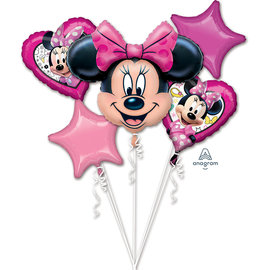 Foil Balloon- Minnie Mouse- 5pk