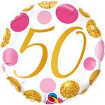 "Foil Balloon-50th Birthday-18"""