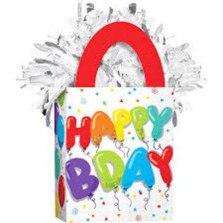 Balloon Weight - happy bday