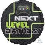 """Foil Balloon - Next Level Birthday - 18"""""""