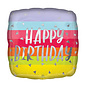 "Foil Balloon - Bright and Bold Birthday - 18"" - 1pc"