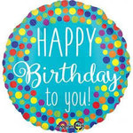 """Foil Balloon - HBD to You Dots - 18"""" - 1pc"""