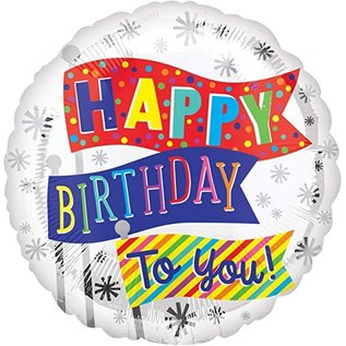"Foil Balloon Happy Birthday to you - 18"""