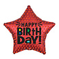 "Foil Balloon - Satin Infused Star Birthday - 18 "" - 1pc"