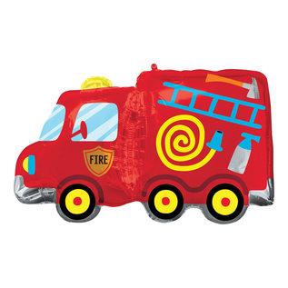 """Foil Balloon - SuperShape Fire Truck - 30"""""""