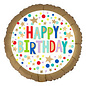 "Foil Balloon - Happy Dots - 18"" - 1pc"