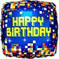 "Foil Balloon - Birthday - Pixels - 18"" - 1pc"