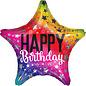 "Foil Balloon - Rainbow Star Birthday - 19"""