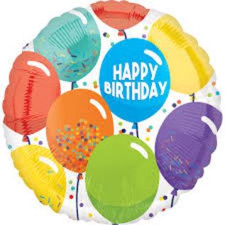 """Foil Balloon - Birthday Celebration - 17"""""""
