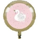 "Foil Balloon-Stylish Swan Birthday-18"""