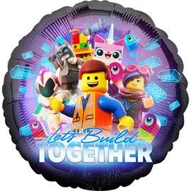 "Foil Ballon - The Lego Movie 2 Lets Build Together - 18"" - 1pk"