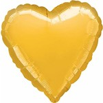 "Foil Balloon - Metallic Gold Heart - 18"" - 1pk"