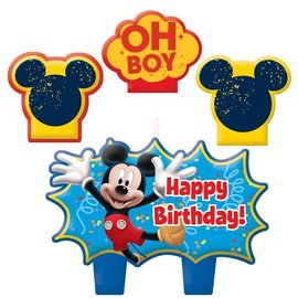 Candle Set-Mickey Mouse-4pk