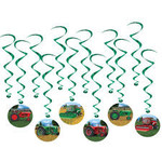 Hanging Decorations-Tractor Whirls-12pk