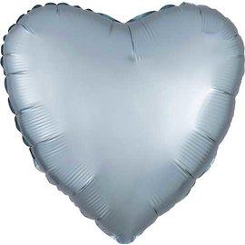 "Foil Balloon - Pastel Blue - Heart - 17"""