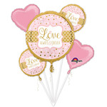 Foil Balloon-5pcs Bouquet - Love Always and Forever