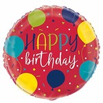 "Foil Balloon - Birthday - 18"" -  1 pcs"