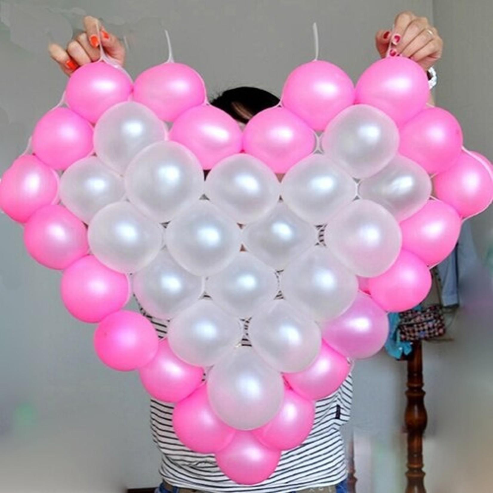 Balloon Holder - Heart Shape Grid