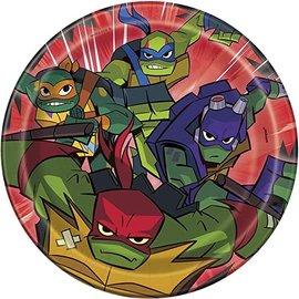 """Plates - BV - Ninja Turtles - 6"""" - 8pcs"""