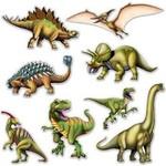 Cutouts - Dinosaur - 8 Pcs