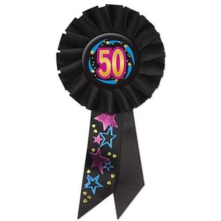 Award Ribbon- 50th Birthday- Rosette