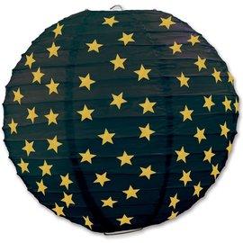 "Star Lanterns - Black and Gold - 9.5"" - 3pcs"