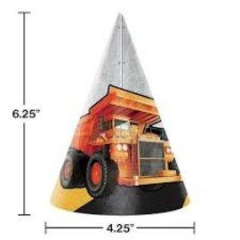 Hat - Paper - Big Dig Construction - 8pkg