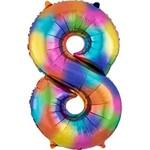 Foil Balloon- Rainbow Splash- #8
