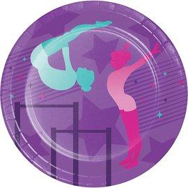 "Plates - BV - Gymnastics Party - 7"" - 8pkg"