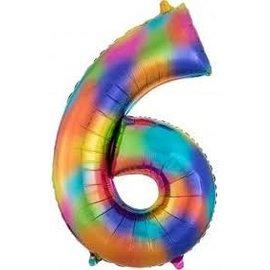 Foil Balloon- Rainbow Splash- #6