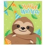 Invitations - Sloth Party - 8 pcs