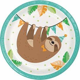 "Plates - BV -  Sloth Party  - 7"" - 8pkg"