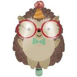 "Foil Balloon - Hedgehog Party - 18"""
