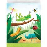 "Loot bags - Paper - Birthday Bugs - 6.5"" x 8.75"" - 8pkg"