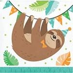 Napkins - BV - Sloth Party - 16pkg - 2ply