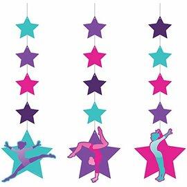 "Hanging Cutouts - Gymnastics Party - 36"" - 3pcs"