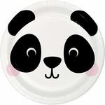 "Plates - BV -  Panda Animal Faces - 7"" - 8pkg"
