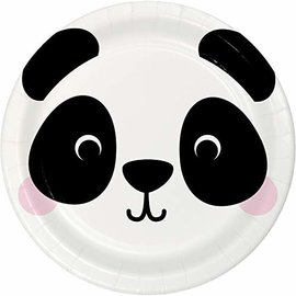 "Plates - BV -  Panda Animal Faces - 7"" - 8pkg"