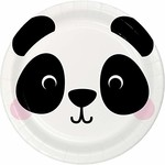 "Plates - LN - Panda Animal Faces - 9"" - 8pkg"