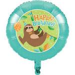 "Foil Balloon - Sloth Party - 18"""