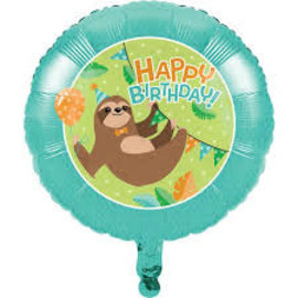 Foil Balloon - Sloth Party - 18""