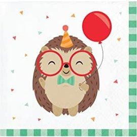 Napkins - BV - Hedgehog Party - 16pkg - 2ply