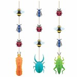 "Hanging Cutouts - Birthday Bugs - 4"" x 39"" - 3pcs"