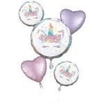 Foil Balloon - Unicorn - 5pk