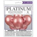 "Latex Balloon - Rosegold - Chrome - 12"" - 6pk"