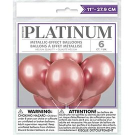 "Latex Balloon - Rosegold - Chrome - 12"" - 6pk"